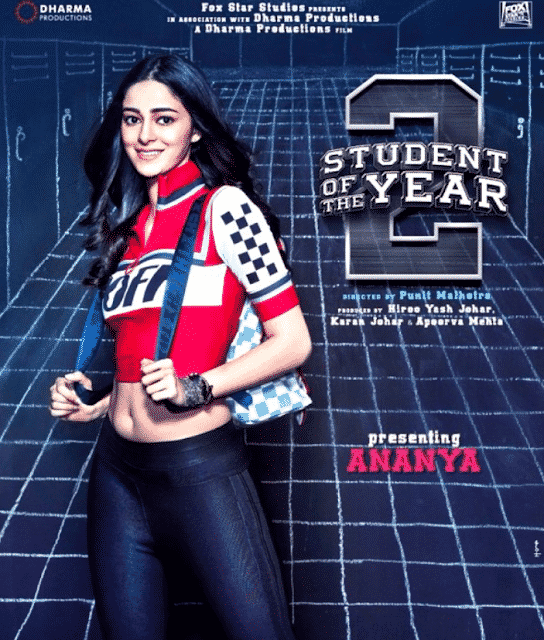 Ananya Pandey in SOTY2 Poster