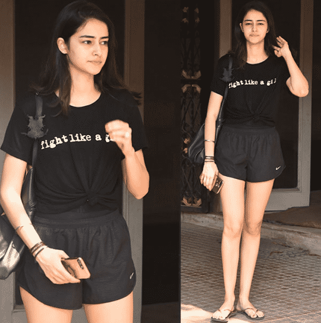 Ananya Pandey coming out from Gym