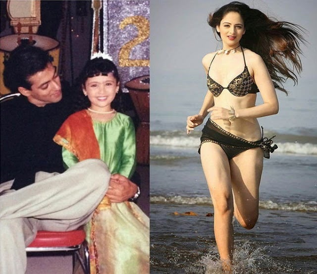 Zoya Afroz Childhood photo with Salman Khan